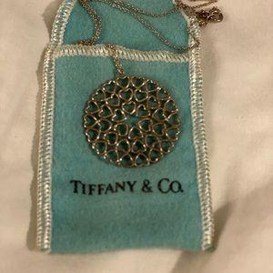 Tiffany Paloma Crown of Hearts Medallion necklace